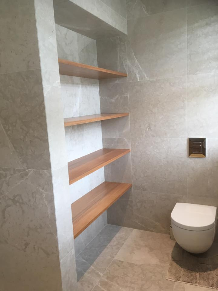 Custom Bathroom Shelving